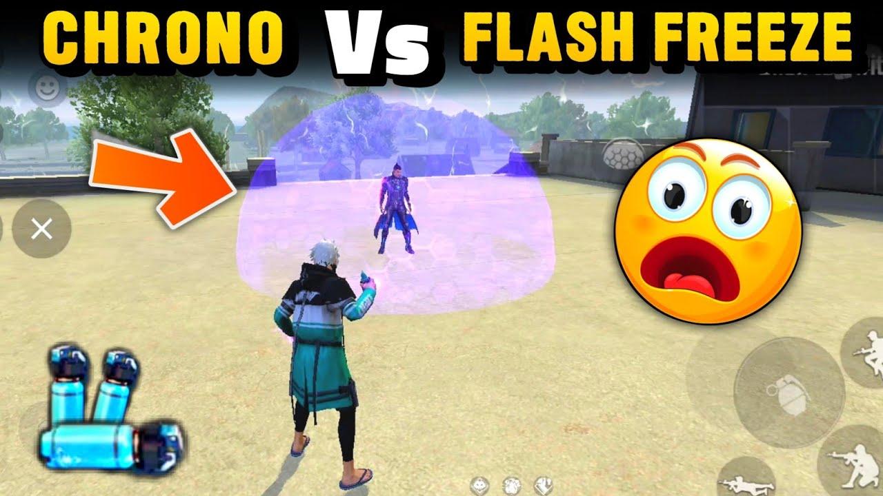 Chrono vs Flash Freeze Grenade Test In Clash Squad Free Fire