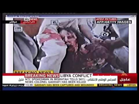 Gaddafi dead first photos warning Graphic images