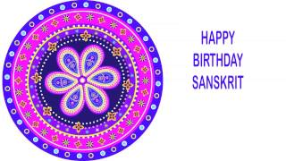 Sanskrit   Indian Designs - Happy Birthday