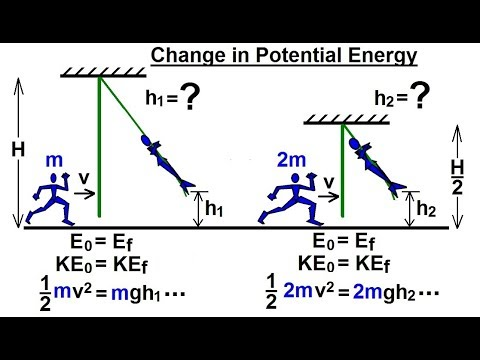Physics - Mechanics:Work, Energy, and Power Examples (5 of 27) Change in Potential Energy