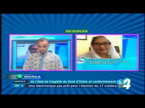 Télé Djibouti Chaine Youtube : JT Somali du 19/09/2017