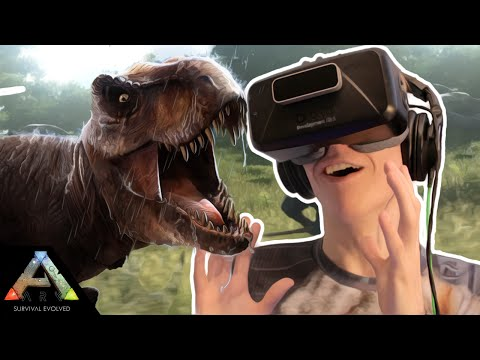 Ark Survival Evolved VR: DINOSAUR HUNTING! (Oculus Rift: DK2 Gameplay)