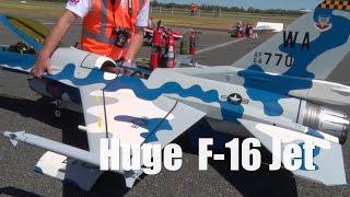 Massive RC F16 Jet Turbine Airplane