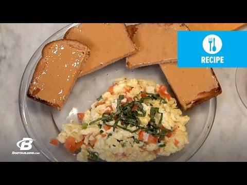 Onion, Tomato, & Egg Breakfast Scramble | Healthy Recipes