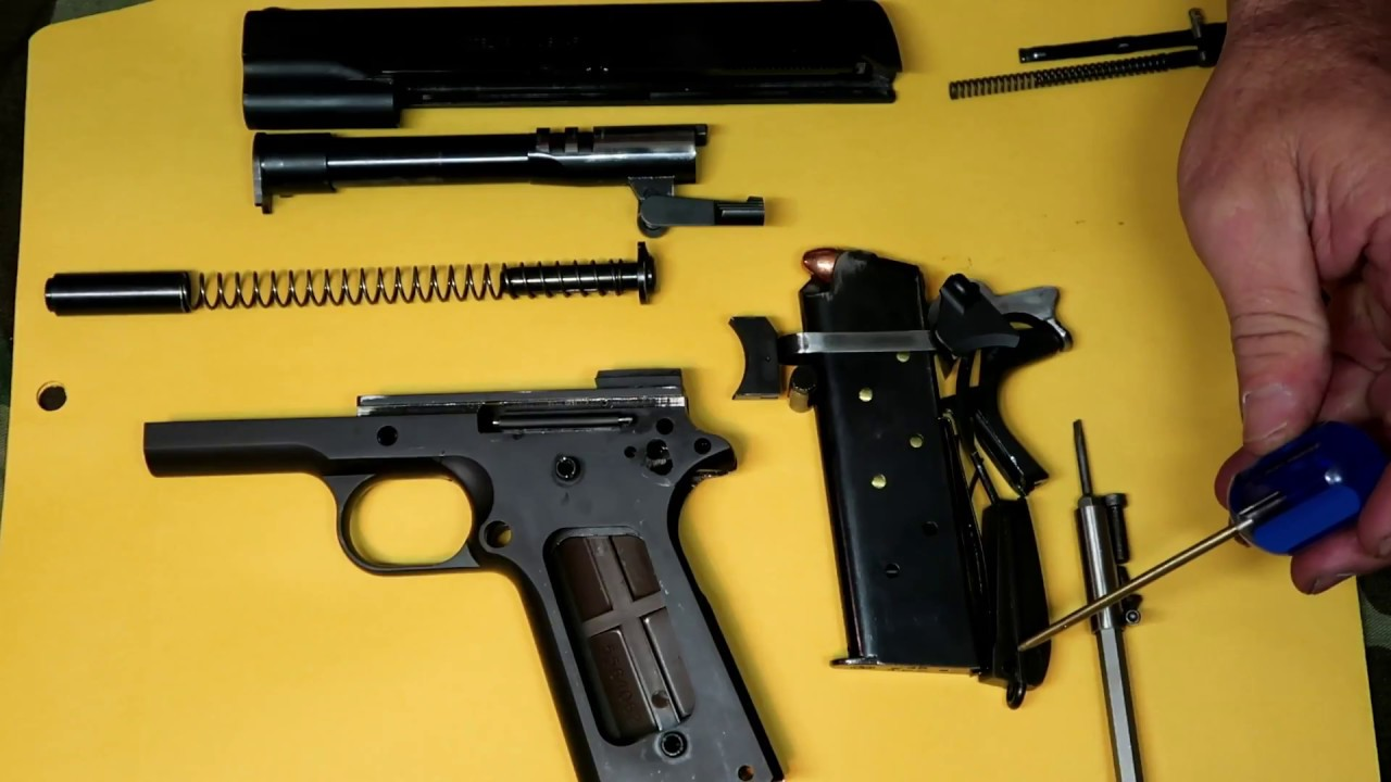 The 1911 It's Parts & their functions
