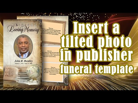 insert a tilted photo microsoft publisher youtube