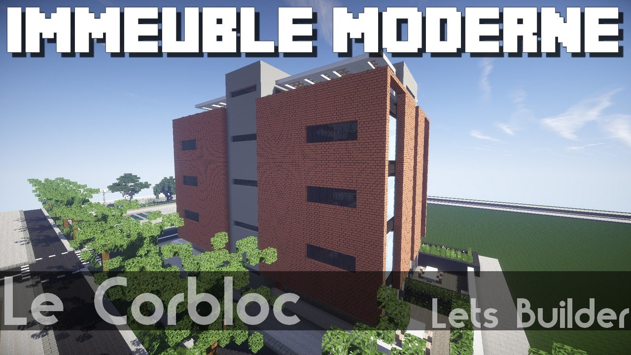 minecraft immeuble moderne youtube. Black Bedroom Furniture Sets. Home Design Ideas
