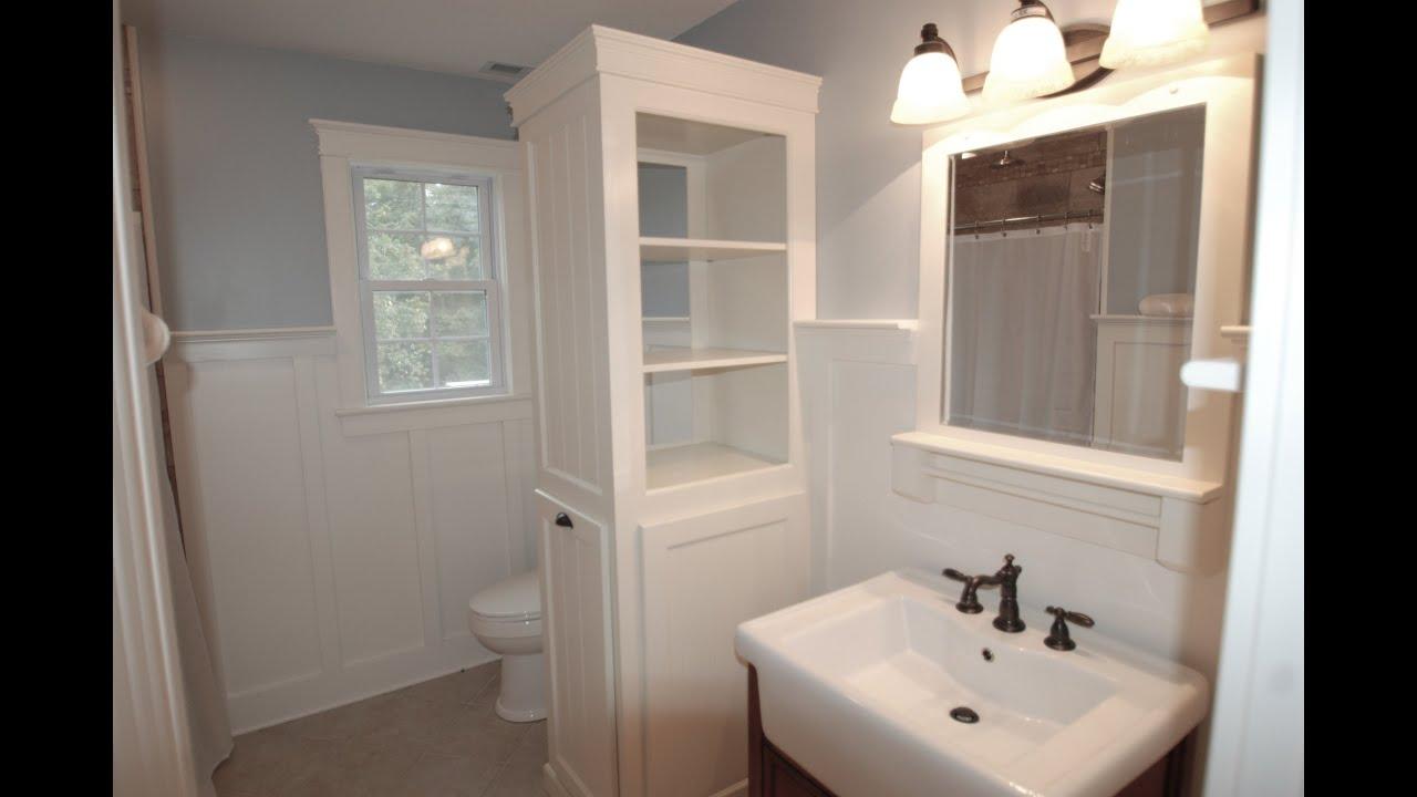 linen cabinet / clothes hamper pt 1 - youtube