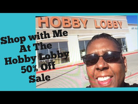 Shop with Me at Hobby Lobby 50% Off Sale