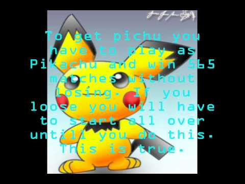 how to get pichu in brawl