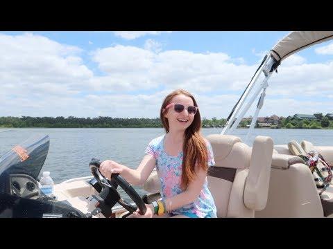 Renting A Boat At Walt Disney World! Pontoon Boat Ride On Bay Lake & Seven Seas Lagoon