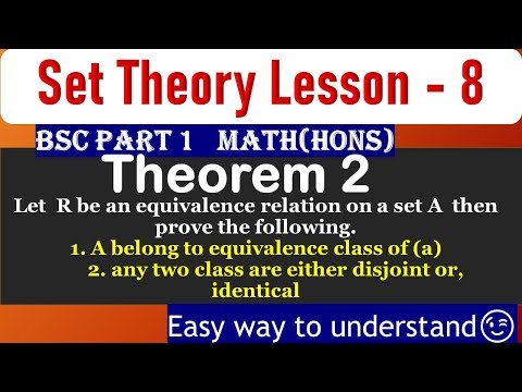 set theory lesson 8  theorem 2 for bsc part 1