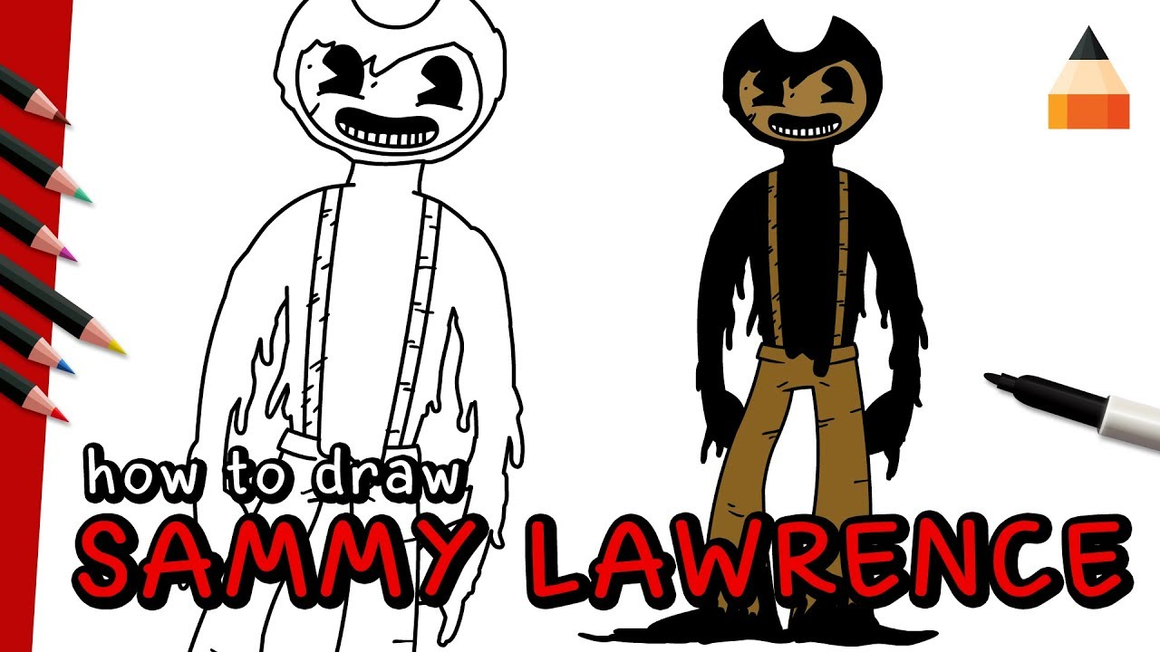 How To Draw Sammy Lawrence | Bendy and the Ink Machine ...