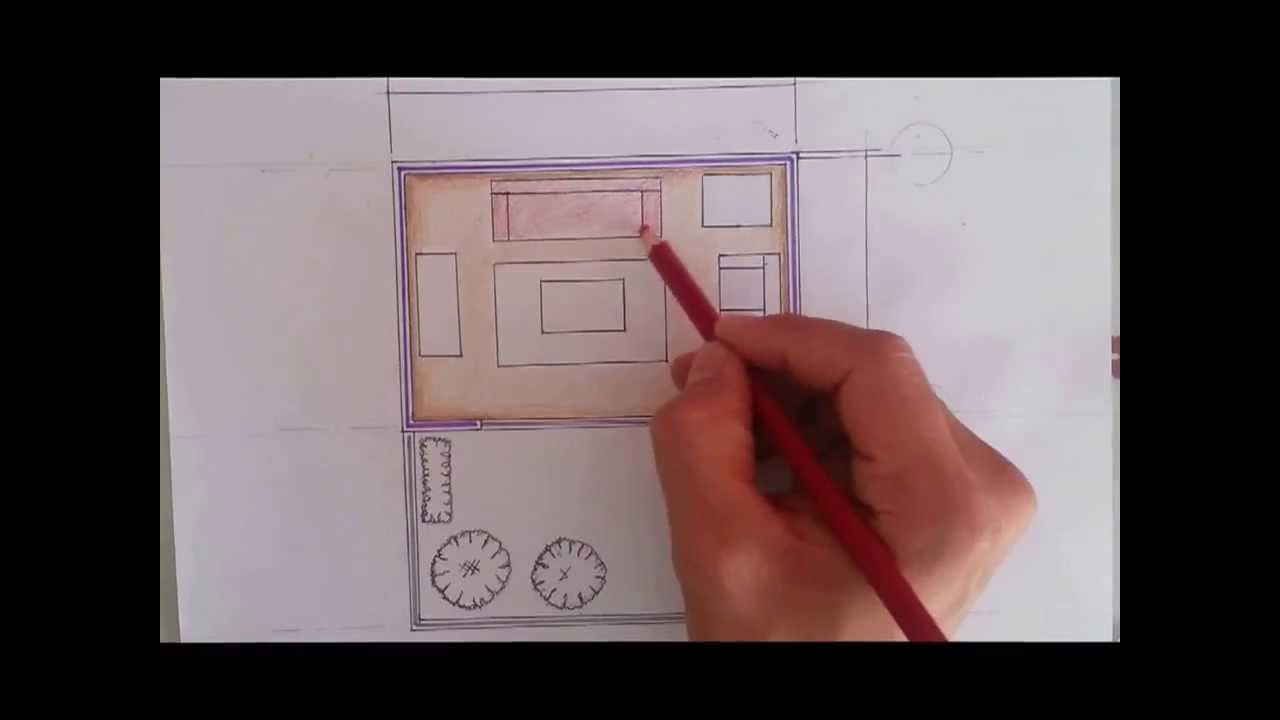 Tutorial dibujo arquitectonico 4 color sillones youtube for Dibujo arquitectonico