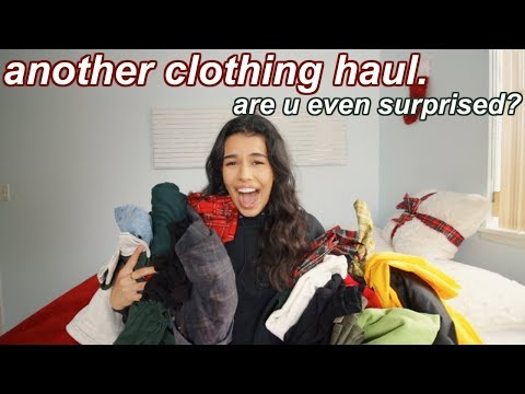 huge winter clothing haul 2018 (try-on)