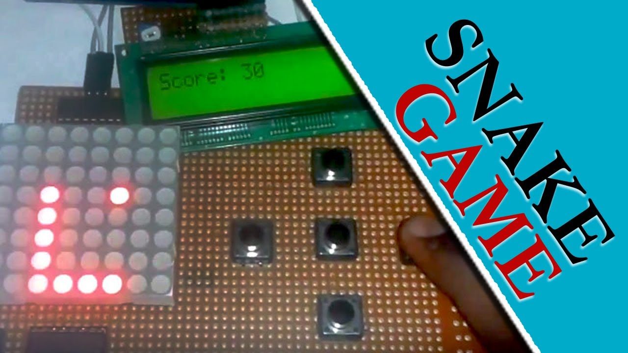 Snake game project using arduino youtube