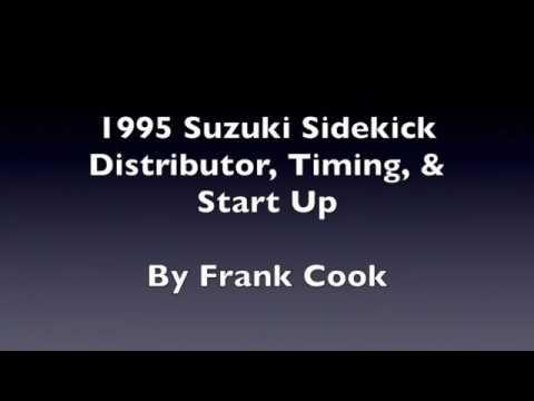 1995 Suzuki Sidekick Distributor, Timing, and Initial Start Up - YouTube