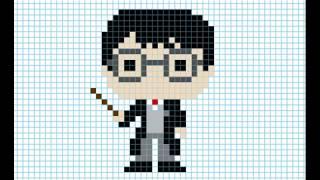 Как нарисовать Гарри Поттера. Рисунки по клеточкам