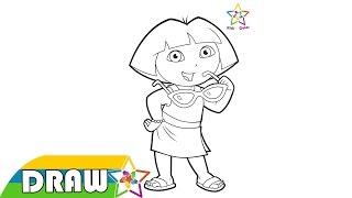 Dora The Explorer Drawing 001 - Dora The Explorer Episodes For Children Coloring Nick Jr. 2015