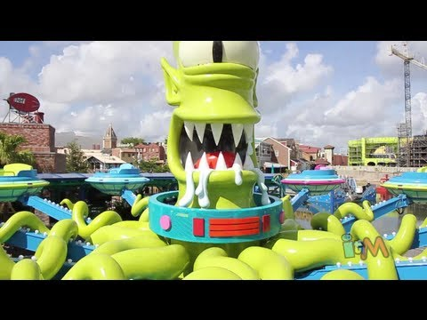 Kang and Kodos Twirl n Hurl POV in The Simpsons Springfield at Universal Orlando