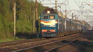 Электровоз ЧС7-011 поезбен № 026 Минск - Москва