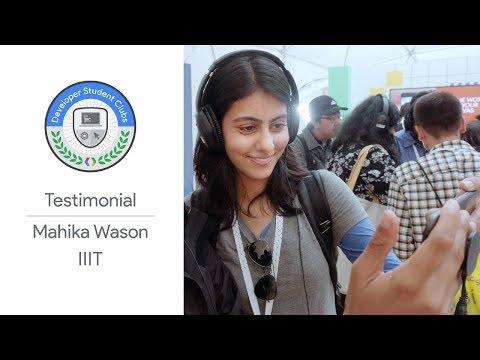 DSC India Leads At Google I/O '18 - Mahika Wason