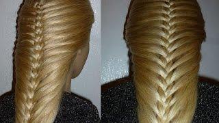 Французская коса-Изящная. Причёска для средних, длинных волос.Причёски для девочек в школу