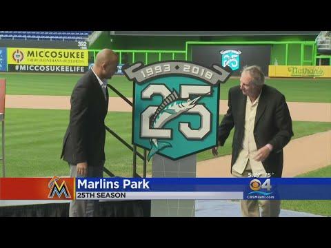 NEW Miami Marlins Logo   Jersey Reaction. Marlins Unveil Anniversary Logo c7fda9dce
