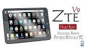 Tablet ZTE Light TAB 2 V9a - hard reset - YouTube