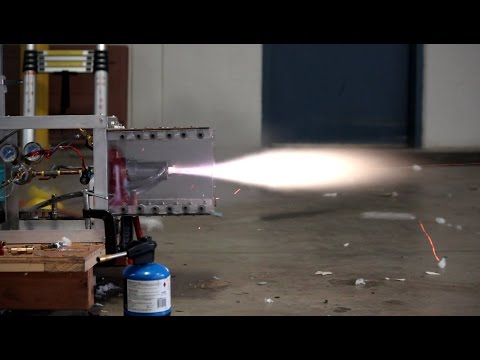 HolliStar V2 Rocket Engine Tests 50 pounds of force