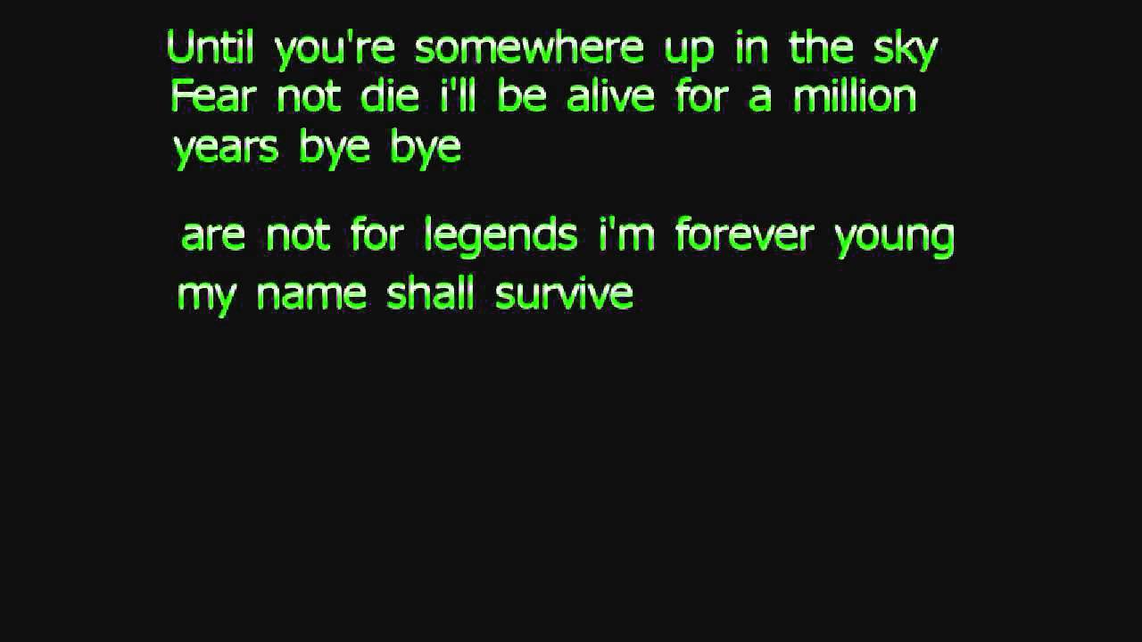Forever young lyrics (Jay Z) - YouTube