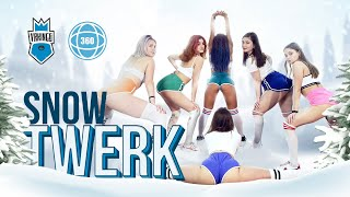 TWERK ON THE SNOW • Yo Gotti ft. Nicki Minaj - Rake It Up • Dance in 360 Degrees • 5K VR Video