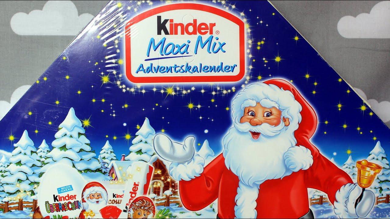 Christmas  Kinder Maxi Mix  Advents Kalender  Ferrero  Unboxing  YouTube