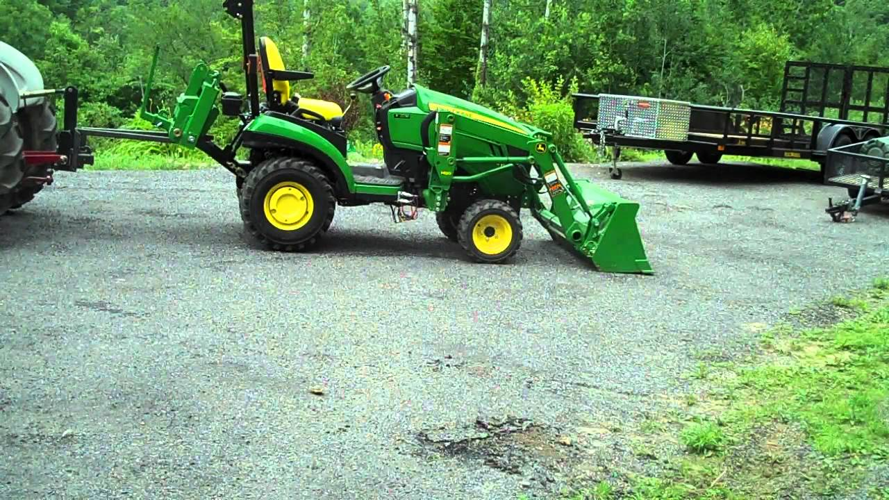 John Deere 1026r Loader Snow Plow : Heavy hitch forks lifting tiller and john deere r doovi