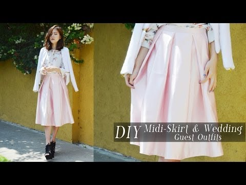 47e2b7a39070 DIY Midi-Skirt   Wedding and Graduation Guest Outfits - YouTube