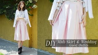 Diy Midi-skirt & Wedding And Graduation Guest Outfits