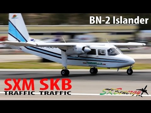 Trans Anguilla Airways Britten Norman Islander departing St. Maarten and St. Kitts !!!