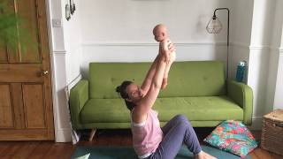 Baby yoga song & core strength