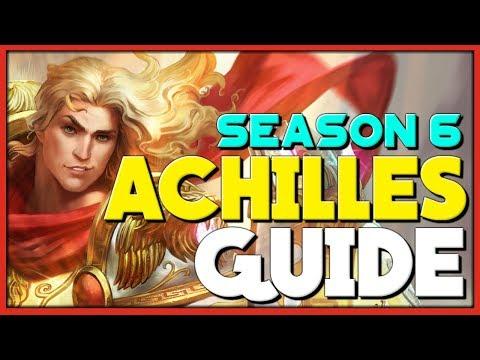SMITE - The Complete Achilles Guide & Build For Season 6 | Solo And Jungle