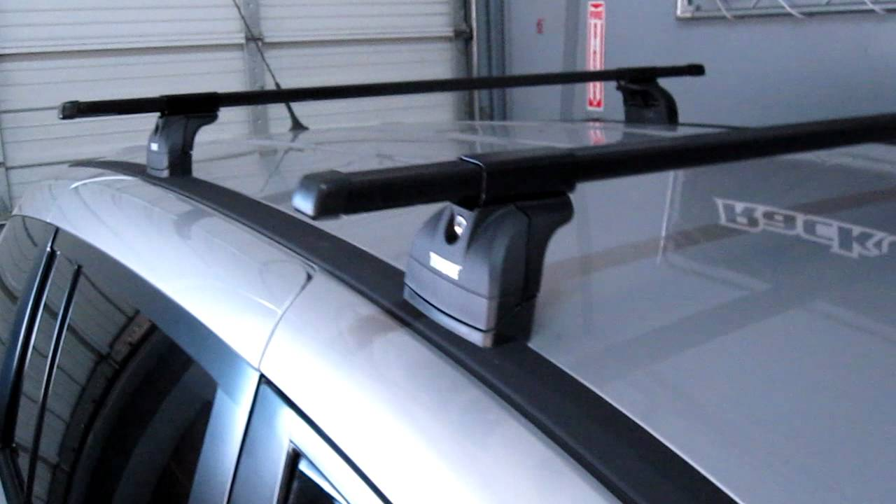 Mazda Mazda5 Mpv With Thule Podium Roof Rack By Rack