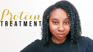 NATURAL HAIR | My Protein Treatment On Multi-Textured Long Kinky Curly Hair Thumbnail