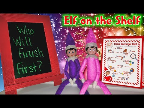 Elf on the Shelf Huge Indoor Scavenger Hunt! Trinity vs Madison!!