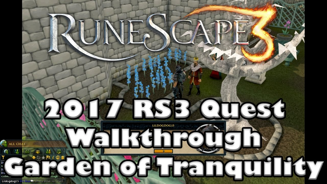 Rs3 Quest Guide Garden Of Tranquility 2017 Up To Date Youtube