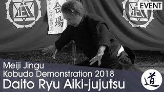 Daito Ryu Aiki-jujutsu -  Amano Shizuo - Meiji Jingu Kobudo Demonstration 2018