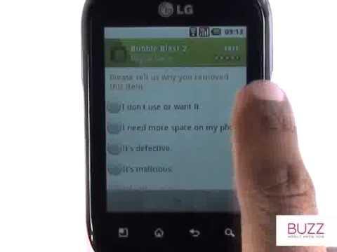 Uninstalling Apps   LG Optimus Chat   The Human Manual