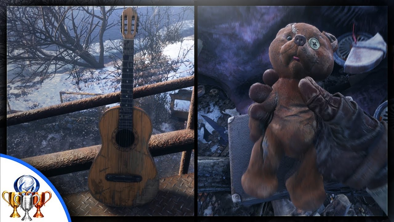 Metro Exodus - Friend of the Crew - Guitar and Teddy Bear Location in Volga