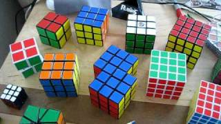 my cube collection 1x1 7x7 pyraminx square 1 and rubik s magic
