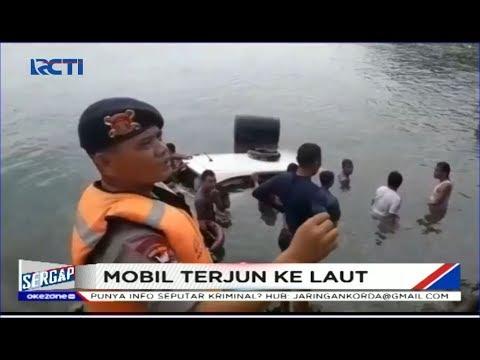 Hilang Kendali, Sebuah Mobil Mobil Terjung ke Laut di Pantai Lampung - Sergap 07/01