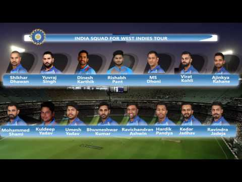 Indian Cricket Team Squad For West Indies Tour 2017 | SportzWiki