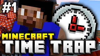 Minecraft TIME TRAP SURVIVAL CHALLENGE #1 with Vikkstar, PrestonPlayz & Woofless